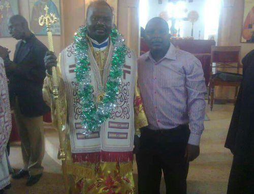 Fr Constantinos Eliud together with His Grace Bishop Neofitos of Nyeri and Mt Kenya