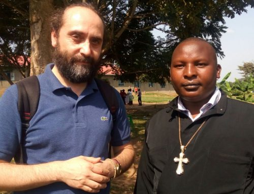 Fr Constantino's Eliud with Andrei from Romania during a youth camp in Uganda