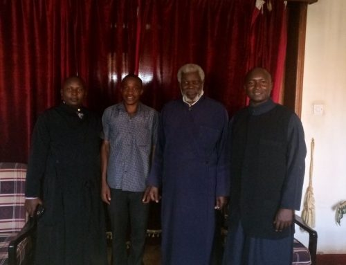 Fr Constantinos in Archbishop Jonah reception room after His arrival in Uganda