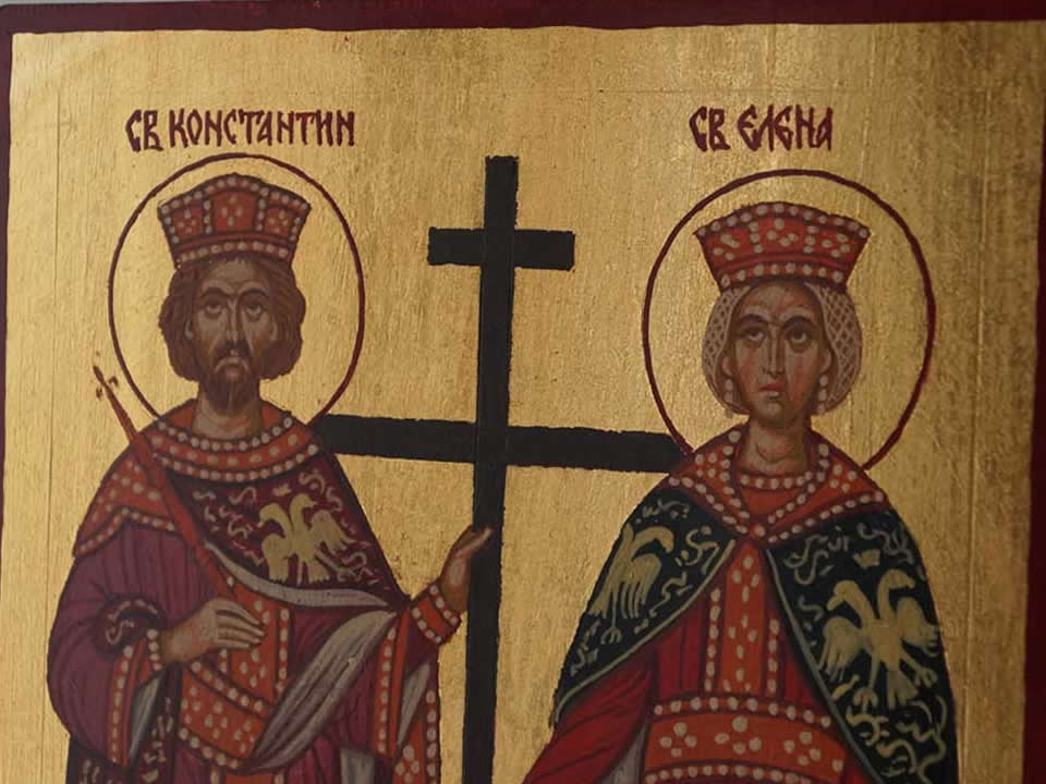 Celebrating the name day of Saints Constantine and Helen!
